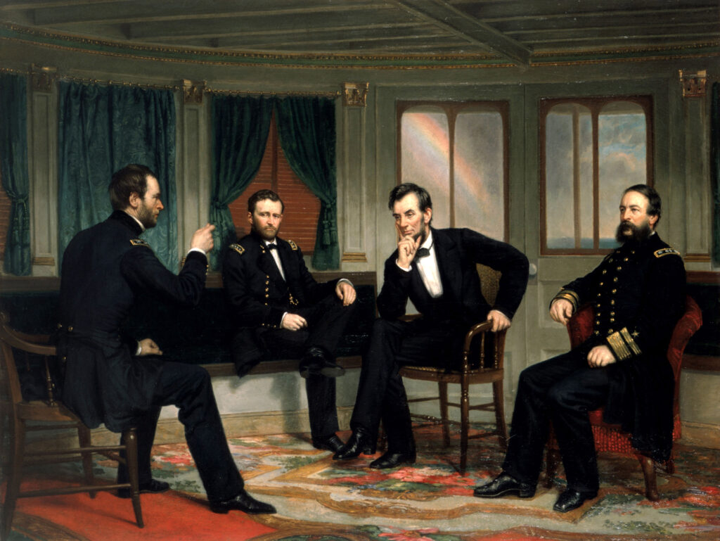 President Lincoln and Union Generals picture
