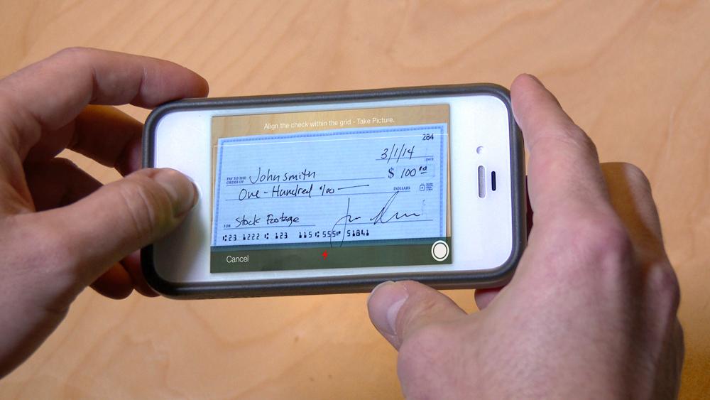 mobile check deposit app
