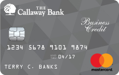 Business credit card the callaway bank business rewards card earn 1 point for every 1 in purchases in the callaway banks rewards program already a callaway bank rewards member your credit reheart Gallery