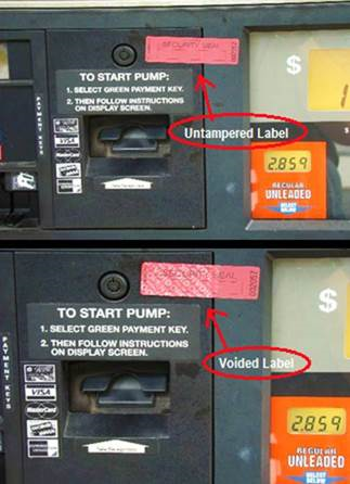 Gas pump skimmer photo