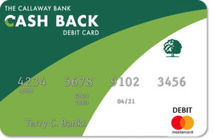 Cash Back Debit Card sample image